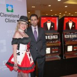 "Debbie and our client with our  ""Vegas Dozen"" Slot Machine in the ""Armani"" department at Saks 5th Ave. Las Vegas, NV"