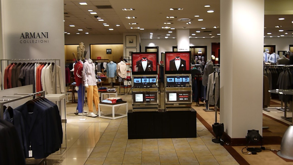 "Our ""Vegas Dozen"" Slot Machine in the ""Armani"" department at Saks 5th Ave. Las Vegas, NV"