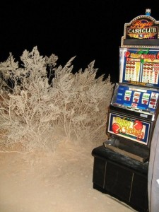 MTV Slot Machine Prop for Panic at the Disco music videos at a dry lake bed near Las Vegas, NV IMG_2324