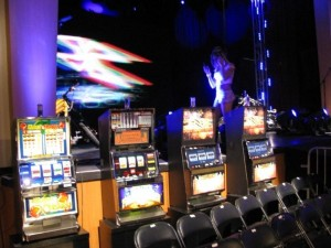 Promotional Slot Machines for TNA Wrestling at the Joint located in the Hard Rock Hotel and Casino.  Las Vegas, NVIMG_6054