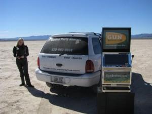 GB,com  Promotional Slot Machine at a dry lake bed near Las Vegas, NV Photo IMG_7750