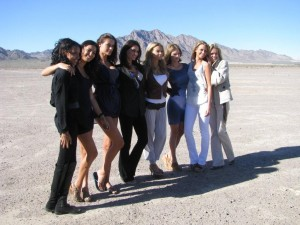 Sports Illustrated  Model Search Promotional Slot Machine at a dry lake bed near Las Vegas, NV Photo IMG_7812