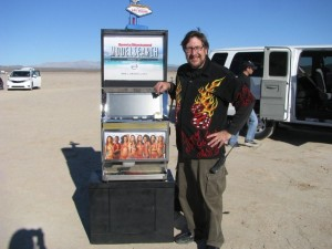 Sports Illustrated  Model Search Promotional Slot Machine at a dry lake bed near Las Vegas, NV Photo IMG_7901