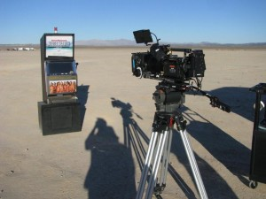 Sports Illustrated Model Search Promotional Slot Machine at a dry lake bed near Las Vegas, NV Photo IMG_7967