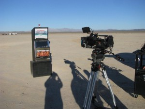 Sports Illustrated Model Search Promotional Slot Machine at a dry lake bed near Las Vegas, NV Photo IMG_7968