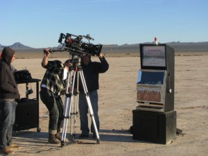 Sports  Illustrated Model Search Promotional Slot Machine at a dry lake bed near Las Vegas, NV Photo IMG_7995