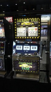 Jackpot Taxi Movie Prop Slot Machines - PhotoP1030435